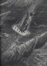 Wood engraving illustration of the Ancient Mariner by Gustave Dore