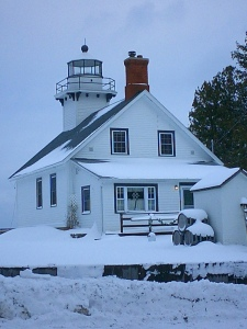 Random winter scene: Old Mission Point Light, MI, USA