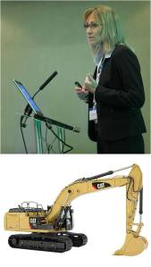 Dr Lou Balmer-Millar at the FPC 2015 & the CAT 366E
