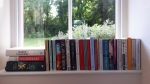 Books on a window sill