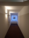 Decorative picture: view along hotel corridor